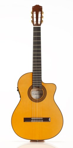 Cordoba 55FCE Acoustic-Electric Thinbody Flamenco Guitar (Honey Amber) (Electric Honey Guitar Acoustic)