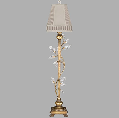 Chandelier Crystal Gold Laurel (Fine Art Lamps 775715, Crystal Laurel Tall Dimming Crystal Table Lamp, 1 Light, 60 Total Watts, Gold)