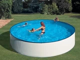 Piscina suelo ERG Ibiza redonda 450 x 90 cm: Amazon.es: Jardín