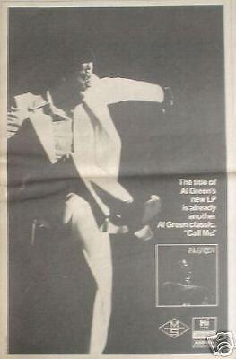 Al Green 1973 Rare Soul LP Album Promo Poster Newspaper Ad from ConcertPosterArt