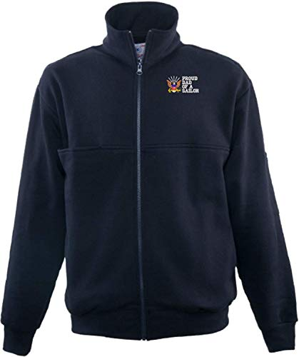 Firefighters Zip Turtleneck - Proud Dad of a Sailor U.S. Navy Game Sportswear Firefighters Full Zip Turtleneck