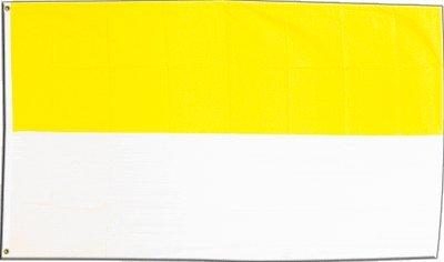 Fahnen Flagge Schützenfest Gelb Weiß 2-150 x 250 cm