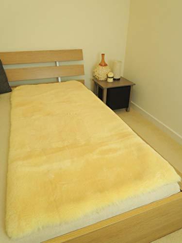 MILABERT Genuine Medical Rectangular Sheepskin Bed pad Underlay Mattress - Pressure Relief - Premium Quality by MILABERT (Image #1)