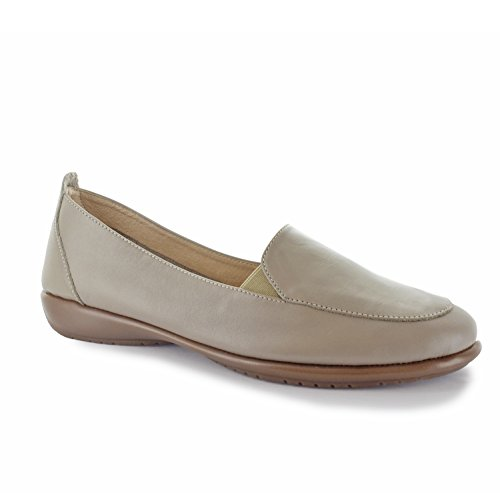 Joan Vass Linda Womens Leather Loafers Slip on Shoes (See More Colors Designs) Taupe ncFGvV0e