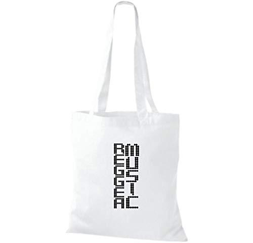 Algodón Shirtinstyle Tela Blanco De Bolso Para Mujer zwwnftqR