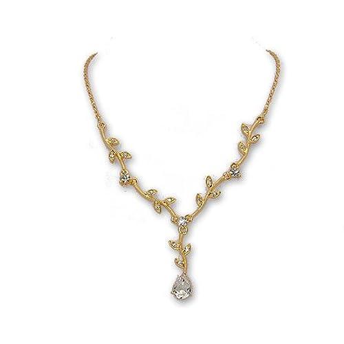 Gold Prom Necklace Amazoncom
