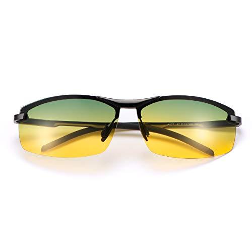 Gepolariseerde fotochromische outdoor sport veiligheidszonnebril voor mannen en vrouwen, anti-schittering UV400…