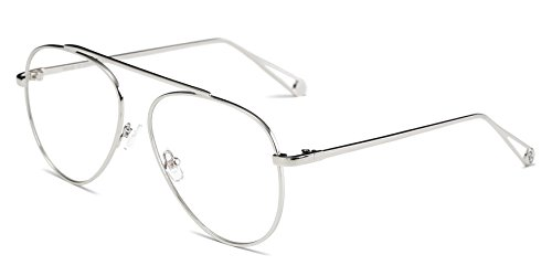 Cramilo Circle Retro Vintage Metal Frame Colored Lens Round Aviator - Best Faces Round For Aviator Sunglasses