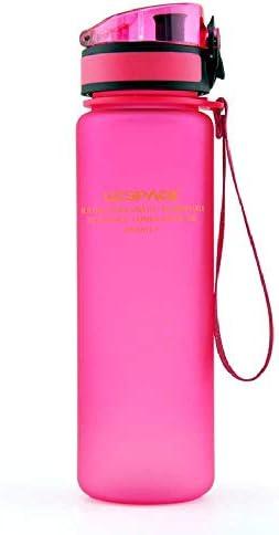 Heiße Sportwasserflasche 500ML 1000ML Protein Shaker Outdoor Travel Tragbares Auslaufsicheres Trinkgeschirr Kunststoff Meine Trinkflasche BPA Free 500-1000ml