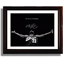 """Framed LeBron James """"We Are All Witnesses"""" Cleveland Cavs Autograph Replica Print"""