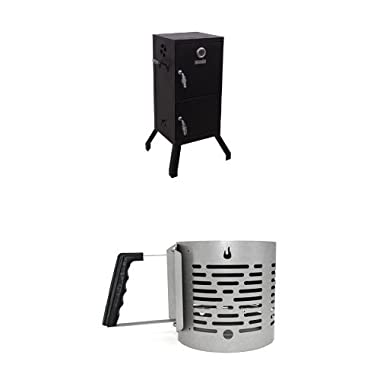 Char-Broil Vertical Charcoal Smoker + Charcoal Starter