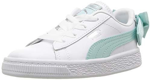Island Paradise Leather - PUMA Baby Basket Bow Slip On Sneaker, Island Paradise, 4 M US Toddler