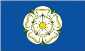 Yorkshire Rosa Blanca County Bandera 150cm x 90cm