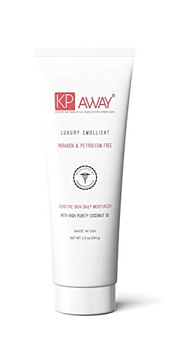 KPAway Keratosis Pilaris Treatment - Acid Free KP Cream, Lotion Made With Organic Coconut Oil, Baby Friendly, Paraben Free, For Rough & Bumpy Skin (3.5 oz)