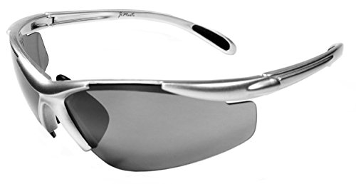 JiMarti JM01 Sunglasses for Golf, Fishing, Cycling-Unbreakable-TR90 (Silver & Black) image