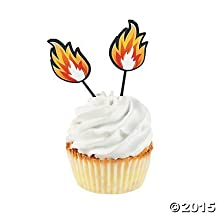 Fire Cupcake Picks - 25 pcs