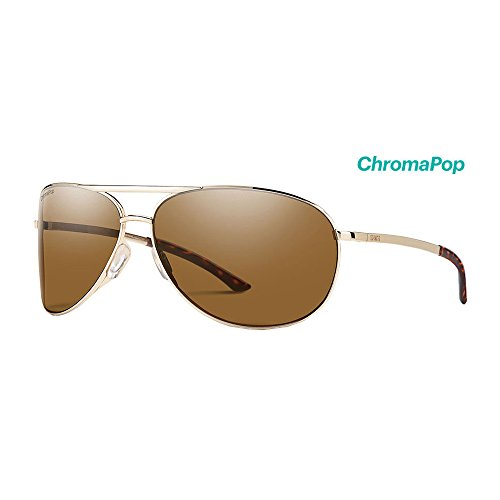 Smith Serpico 2 ChromaPop Polarized Sunglasses, Gold, Brown - Action Optics Sunglasses