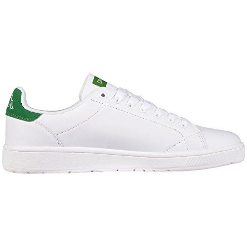 Unisex 1030 White Kappa Basse Bianco Scarpe da Green Court Ginnastica Adulto z4fXf8xq