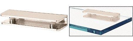 CRL Polished Nickel Finish Solid Brass Rectangular Glass Shelf Clamp