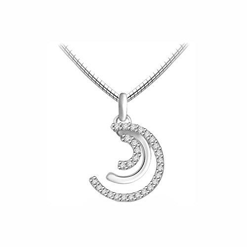 Or Blanc 18 ct Pendentifs Diamant , 0.15 Ct Diamant, GH-SI, 1.28 grammes.
