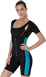 Women Sauna Suit for Gym Workout,Fitness Training and Slimming Exercises,Neoprene Full Body Shaper Sports Body