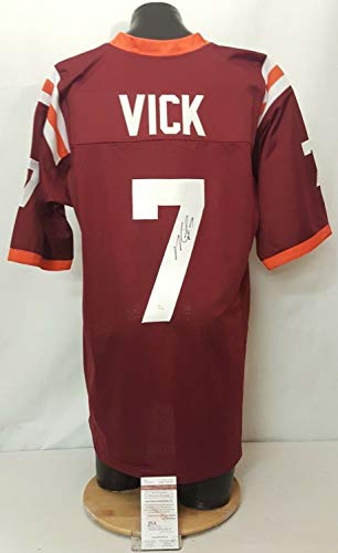 Michael Vick Autographed Signed Memorabilia Virginia Tech Hokies Football Jersey - JSA Authentic