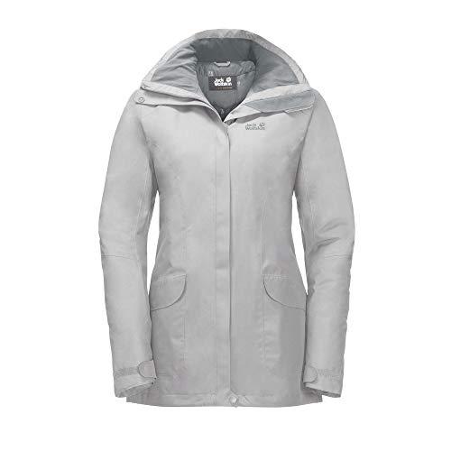 Jack Wolfskin Women's Kiruna Trail Waterproof Insulated Rain Jacket Grey Haze