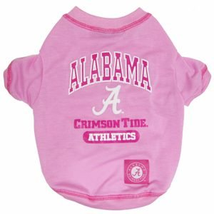 NCAA Alabama Crimson Tide dog pet PINK tee shirt LG 32-52lbs Review