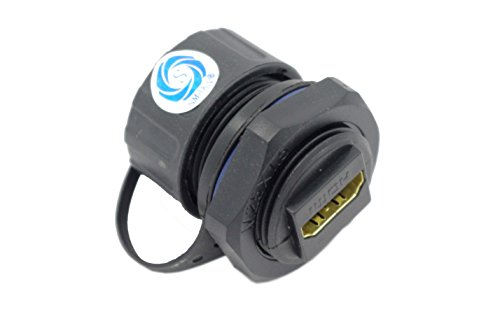 SMAKN® M25 Waterproof HDMI Coupler, Female to Female