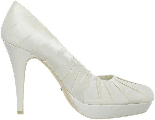 Menbur Wedding Edith 04737 - Zapatos de novia de tela para mujer Marfil