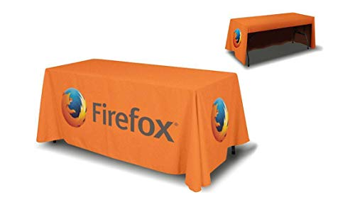Custom 6ft Table Throw Cover 3 sided (open back) YOUR CUSTOM LOGO]()