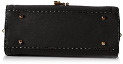 Stella Maris Damen Handtasche Henkeltasche Schultertasche Umhängetasche Fashion Top Handle Bag aus Leder Schwarz mit Diamant und herausnehmbarem Taschenorganizer - STMB606-04