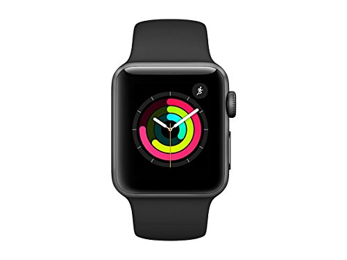 Apple Smart Watch 38mm Watch Series 3 - Gps - Space Gray Aluminum Case With Black Sport Band (Old Model)