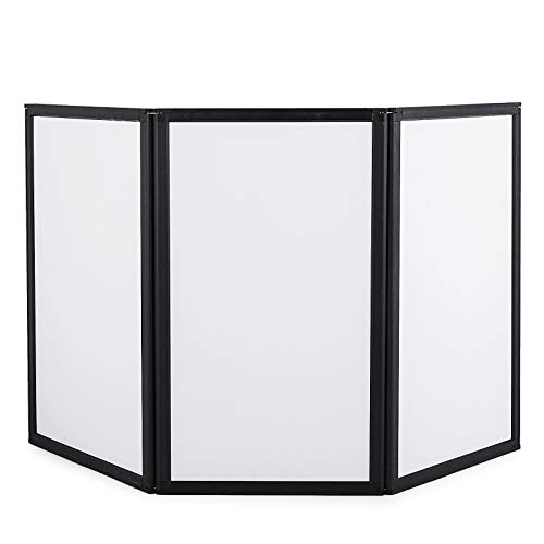 VEVOR Trade Show Display 3 Panel Panel Screen Each Panel is 54x30 Inches Folding Screen with Velcro-Receptive Fabric 3 Panels
