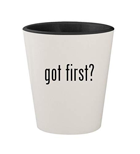 got first? - Ceramic White Outer & Black Inner 1.5oz Shot Glass