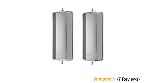 """One Pair of 7/"""" x 16/"""" West Coast Mirrors Heated Lights Truck Mirrors"""