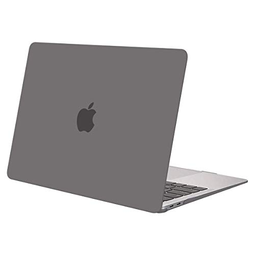 MOSISO MacBook Air 13 inch Case 2020 2019 2018 Release A2179 A1932, Plastic Hard Shell Case Cover Only Compatible with MacBook Air 13 inch with Retina Display, Grey