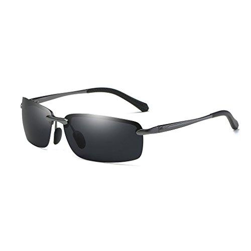 de magnesio Gafas ultra lens de Color blue aluminio nuevo conducción frame aire espejo de los de sol hombres polarizadas Gray deportivo de Gray de libre espejo espejo Lens Gray ice brillante al Frame equitación IqftIr
