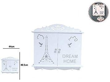 takestop® - Caja Porta Llaves 2 Puertas Dream Home Torre ...