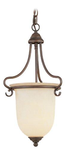 - Livex Lighting 6116-58 Coronado 1 Light Imperial Bronze Mini Hall/Foyer Pendant with Vintage Scavo Glass