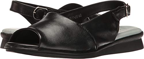David Tate Womens Slide - David Tate Women's Norma Black Lamb 8.5 M US M (B)