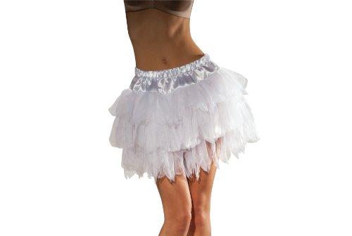 Womens White Ballerina Costume (Secret Wishes Tutu With Satin Waistband, White, One Size)