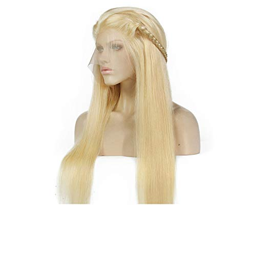 Chibi-store Blonde Wigs 180% Density Silky Straight Brazilian Remy Human Hair lace front Wig,10inches,180%