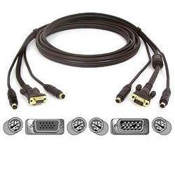 Soho Kvm Cable Kit - Belkin 10' Cable For OmniView? Soho Series PS/2 KVM Cable With Audio