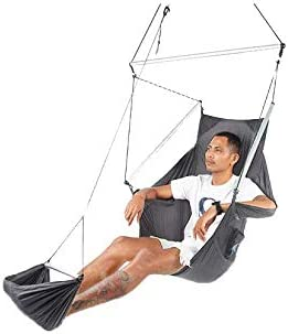Ticket to the Moon Moonchair Handmade Fair Trade Comfy, Portable Adjustable Hanging Chair for your garden, home, holiday, camping, Parachute Silk Nylon, Set-Up 1 min., OEKO-TEX 10Y. Warranty