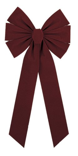 Impact Innovations 6-Loop Medium Flocked Bows, Burgundy, 8 Count