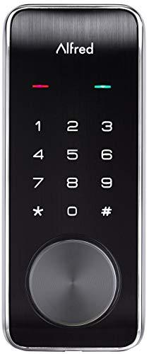Alfred DB2-B Smart Door Lock Deadbolt Touchscreen Keypad, Pin Code + Key Entry + Bluetooth, Up to 20 Pin Codes (Chrome)