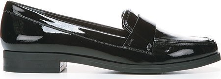 Franco Sarto Damen Valera Slip-On Loafer Schwarzes Patent