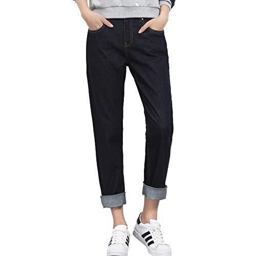 Lettre High Noir Mi Length Solide Full Jean Taille Broderie Femme Harem Plus Jeans Femmes Loose Street Rlwfjxh Automne 3l La 08wnO