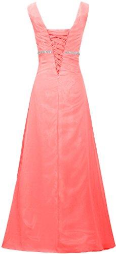 Corallo Vestiti Dell'abito V Formiche Da Di Collo Cristallo Sera Cinghie Donne Lunga Delle Promenade ArHOwpAq
